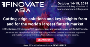FINOLAB to become Partner of FinovateAsia